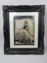 Suzy Parker Chanel Print - Framed - printed on wooden canvas by Kersh studio 2014 M9 4BN