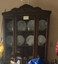 Antique China Cabinet with Light
