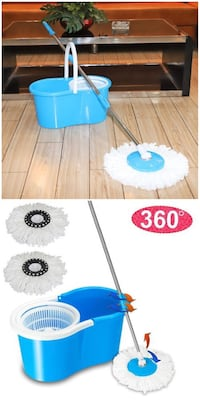 New in Box Spin Mop 360 Rotating Head Magic Floor Mop with 2 Microfiber Heads Whittier, 90605