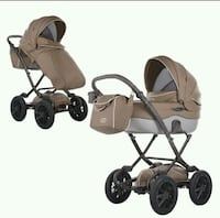 baby's brown and black travel system Woodbridge Township, 07001