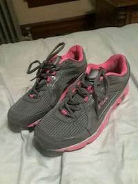 pair of gray-and-pink Nike running shoes Lehigh County