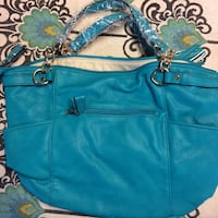 Blue tassel purse handbag