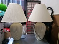 two white ceramic base table lamps Germantown, 20876