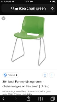Have two Green and 2 white chairs Brampton, L6W 2X1