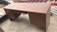 brown wooden single pedestal desk Edinburg, 78539