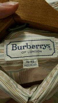 Men's Burberry Button-Down Dress Shirt