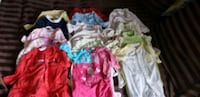 Size 3 to 9 month baby pyjamas and undershirts Mississauga, L5H 1E6
