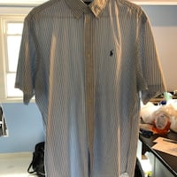 brown and black striped dress shirt East Providence, 02916
