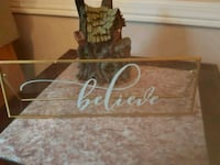 Believe glass sign Whitby, L1N 8X2