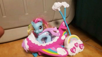 My little pony toy remote control car.