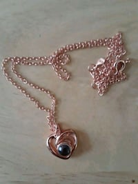 New rose gold heart pendant necklace chain Mississauga