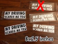 3/$10 Car Decals mix and match Edmonton, T5P 4W3