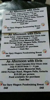 two black and white tickets Fort Erie, L2A 2Y2