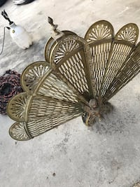 Vintage Brass Fire Screen Fan Salinas, 93901