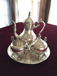 Antique 4 piece  FB. ROGERS Silver-Plate Tea & Coffee Serving Set Woodbury, 08096
