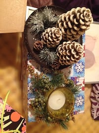 white-and-brown pine tree table decor Edmonton, T5X 4V6