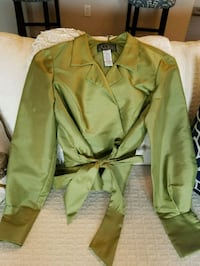 Green Wrap Blouse by Alex Evenings Alexandria, 22301