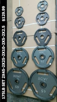175LB OLYMPIC WEIGHTS PLATES SET JADE COMMERCIAL   New York, 11378