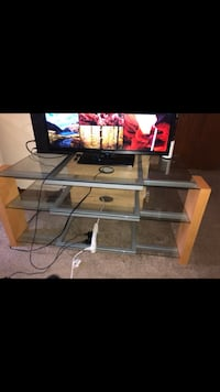 Glass entertainment stand $30