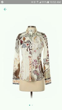 ETRO New w tags Paisley and floral blouse