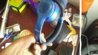 blue and black corded headphones Victoria, V8W 2G5