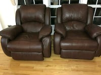 Real Leather 3 pieces sofa and 2 recliner Aurora, 60504