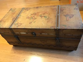 Vintage Map Chest Coffee Table