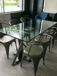 clear glass-top table Toronto, M6A