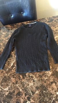 cable-knitted black scoop-neck sweater Fort Stewart, 31315