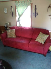 Red couch Clarksville