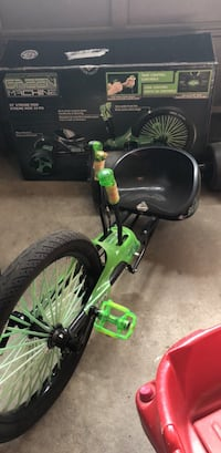 Green and black drift trike