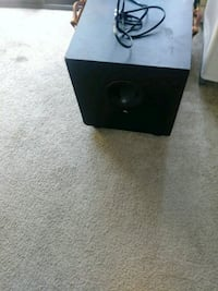 black loaded subwoofer Sparks