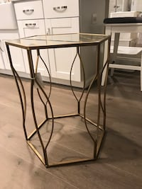 black metal framed glass top side table Germantown, 20874