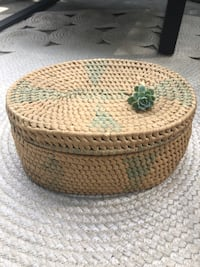 Vintage Sewing Basket or Wall Decor