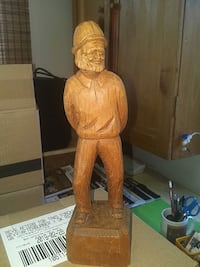 Hand Carved Wooden Statue 25 cm Tall Hamilton, L0R 2H4