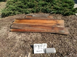 Free Redwood fence boards