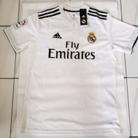 white and black Adidas Fly Emirates jersey shirt Miami, 33155