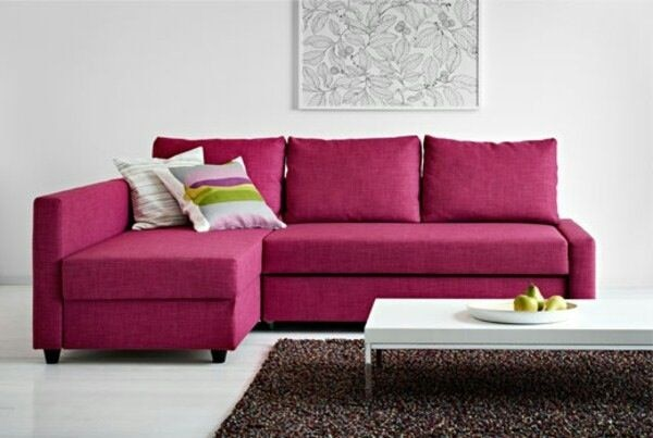 Ikea Friheten Sofa In Raspberry Pink