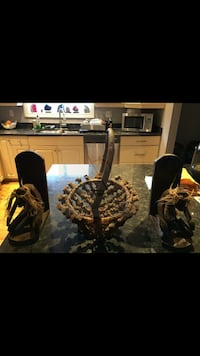 Hand carved basket and book keepers Spruce Grove, T7X 3X3