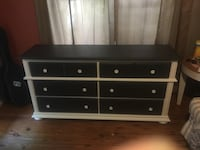 black and white wooden lowboy dresser Sarasota, 34236