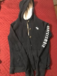 black and white zip-up hoodie Mission, 78574