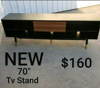 "70"" Black and Brown Tv Stand"