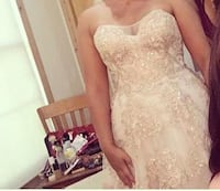 women's white sweetheart dress color is more a rose gold color very elegant and beautiful. Used once. Manassas, 20111