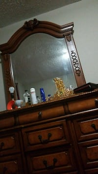 brown wooden dresser with mirror Edmonton, T5C 1X4