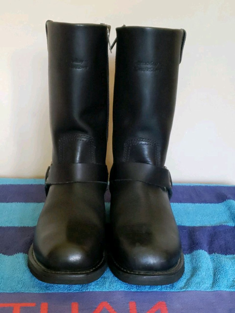 Photo Mens Harley Davidson riding boots 11.5 worn 2 times PRICE FIRM
