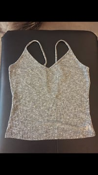 Victoria's Secret Grey Ribbed Cami/Tank Top Size:Large Richmond, V7E