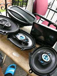 black and gray coaxial speakers Jersey City, 07305