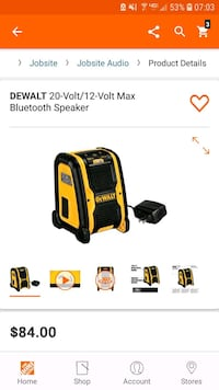 new dewalt 20v bluetooth speaker  Chantilly