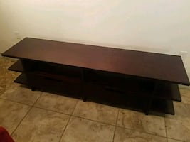 console with drawers