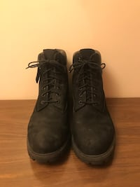 Black Timberland men's boot's size 10